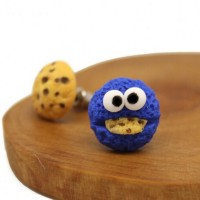 Jual anting anak elmo monster cookies clay import korea lucu murah grosir Murah