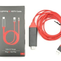 Kabel HDTV Iphone - Lighting To HDMI Video Cable