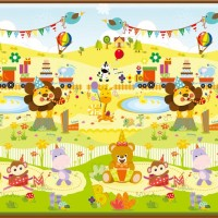 Jual Baby Playmat Parklon Roll (gulung) Happy Safari Birthday Murah