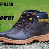 SEPATU MURAH CATERPILLAR SAFETY BOOTS ENGINEER LEATHER