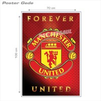 Poster MANCHESTER UNITED #32B: LOGO - Gede 70 x 100 cm