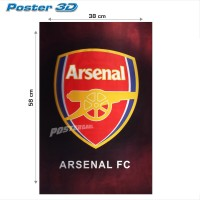 Poster 3D LOGO ARSENAL #3D21 - size 38 x 58 cm