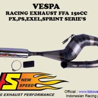 harga Knalpot Vespa New Speed Racing 150 kanan Tokopedia.com