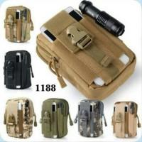 Tas Pinggang Sarung Handphone ARMY MILITER TENTARA OUTDOOR Mini