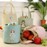 Cooler Bag salur DOLL Bonus 2 pcs jelly ice cooler / lunch bag tas asi