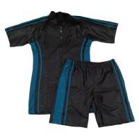 Baju Renang Dewasa Setelan Celana Diving Pria Hitam-Toska