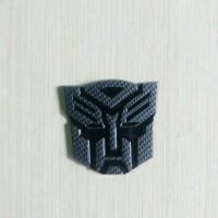 Jual Emblem Logo Transformers Autobots Hitam Karbon Murah