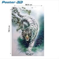 harga Poster 3d Fauna: Harimau Putih #3dj+15 - Size 78.5 X 58.5 Cm Tokopedia.com