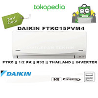 AC SPLIT DAIKIN 0.5 PK 0.5PK R32 THAILAND INVERTER - FTKC15PVM4