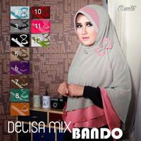 GROSIR   TERMURAH Hijab / Jilbab Khimar Delisa Bando