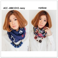 Scarf Syal Kalung Korea Import Necklace Aksesoris Pesta Sleyer Choker
