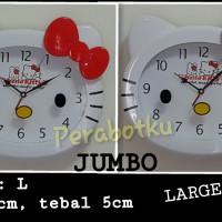 harga Jam Dinding Jumbo 33 x 28 cm Kepala Hello Kitty Tokopedia.com