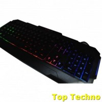 Kinbas USB Wired Gaming Keyboard With Super LED Backlight - VP-X9 - Bl