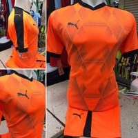 Setelan Jersey Bola Futsal Lokal Polosan Puma Leicester Orange