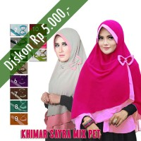 Hijab / Jilbab Khimar Sayra Mix Pet2
