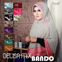 Jilbab Delisa Mix Bando / Bergo Khimar Delisa Bando / Bergo Bando2