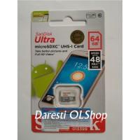 Jual Memory Memori Card MicroSD Micro SD Sandisk Ultra Class 10 64GB, 64 GB Murah