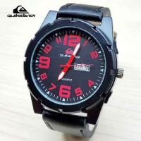 Jam Tangan Pria / Cowok Quiksilver Daydate Number Leather B Jam Tangan