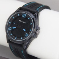 Jam Tangan Cowok Oakley Rubber Black List Blue High Quality