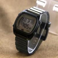 Jam Tangan Pria / Wanita Adidas Segi Rubber Black Jam Tangan