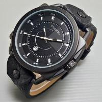 Jam Tangan Pria / Cowok Diesel Axial Leather Full Black Jam Tangan