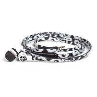 ChicBuds Arts Earbuds With Microphone - Black Ikat