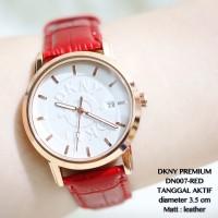 Jam Tangan Wanita DKNY Guess Simple Premium Kulit Tanggal Aktif Mura