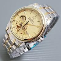 Rolex Skeleton Carerra Rantai Kombinasi Plat Gold 03059