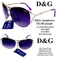 kacamata d & g sunglasses m2.00 purple fullset