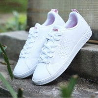 Adidas NEO ADVANTAGE CLEAN White Pink Stripe