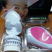 [Promo] Pink Skiner Korea Beauty Set / Alat Pembersih Wajah / Pemijat