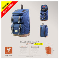 VISVAL MAJESTIC-Tas Ransel / Backpack Keren Trendy Stylish Laris!!