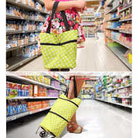 [HARGA PROMO] Tas Troli Lipat Troly Shopping Foldable Trolley Bag Cart