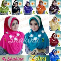 Jilbab Shakinah Zahra / Sakinah Zahra / Sakina / Bergo Flower Limited