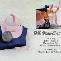 Tas Wanita VB Pom-Pom 02 Navy-Pink