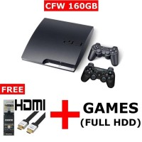 PROMO CUCI GUDANG!!! Playstation Ps3 Slim Sony Cfw 4.78 + Hdd 160gb