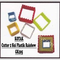 KOTAK-Cutter 2 Sisi Plastik Rainbow GK205