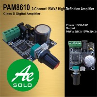 PAM8610 12V Dual-Channel HD Digital Amplifier Board 2x15W w/ Potentio