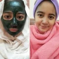 Masker Wajah Spirulina   Masker Hijau