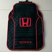 Karpet Karet Logo Honda Merah