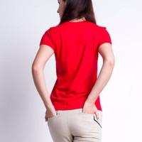 Jual Kaos Polos / Paxta Basic Tees V-Neck Red Women