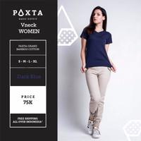 Jual Kaos Polos / Paxta Basic Tees V-Neck Navy Women