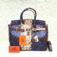 Tas Hermes Birkin Colour Snake Skin Semi Premium Import Murah Terbaru