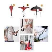 Jual Payung Terbalik Kazbrella C Handle Reverse Double Layer Murah