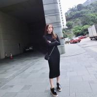 long dress sweater stretch rajut terusan korea k pop snsd import murah