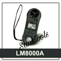 LUTRON LM 8000A LIGHT LUX METER + ANEMOMETER + THERMOMETER GARANSI