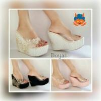 harga Wedges mika flower/ supplier sepatu wanita murah Tokopedia.com