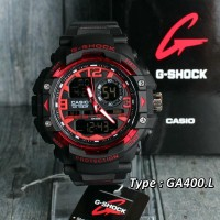 Jam G-Shock GA400L Hital List Merah / Black Red Casio Suunto/Skmei