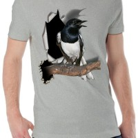 harga Kaos 3d Burung Kacer Poci Abu Misty Biru Tosca Biru Tokopedia.com