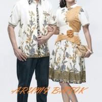 Sarimbit Pasangan Couple Keluarga Kemeja Dress Batik 1827 Gold